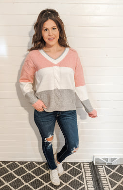 Waiting For You Color Block Sweater