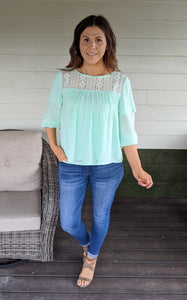 Positively Radiant Mint Top