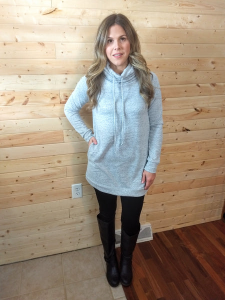 No Place To Go Tunic - Heather Gray