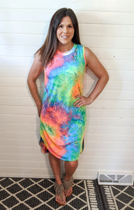 Sunshine Tie Dye Dress