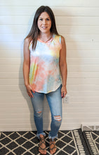 The Cutest Tie Dye Cutout Top