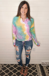 Just Go With It Tie Dye Top
