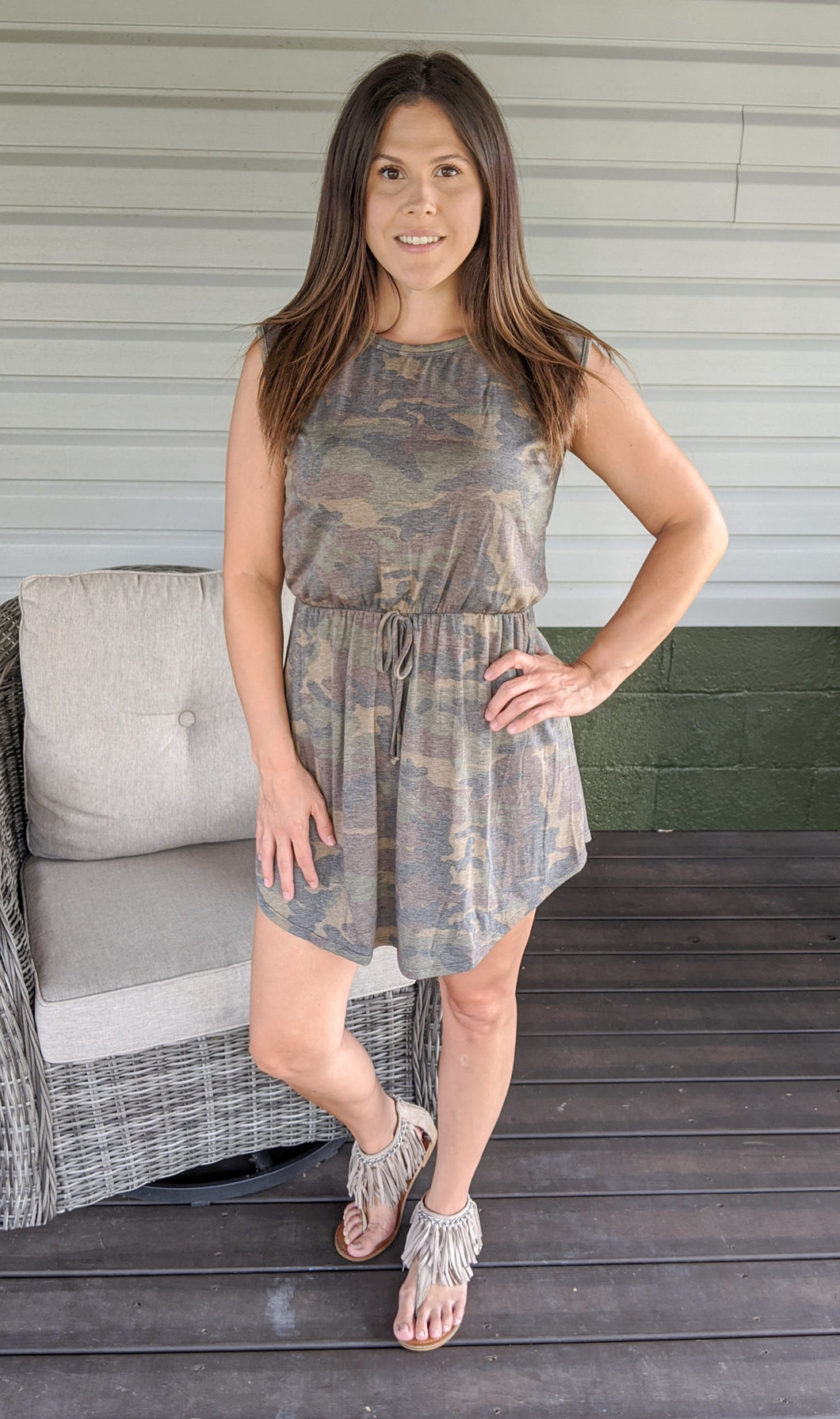Comfort is Key Camo Dress
