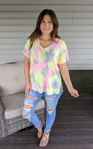 Go And Glow Tie Dye Top