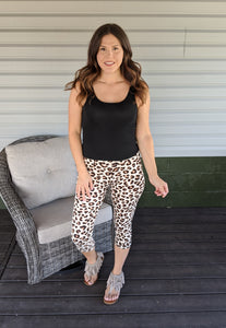 Wild Adventures Leopard Capri Leggings ~ Curvy