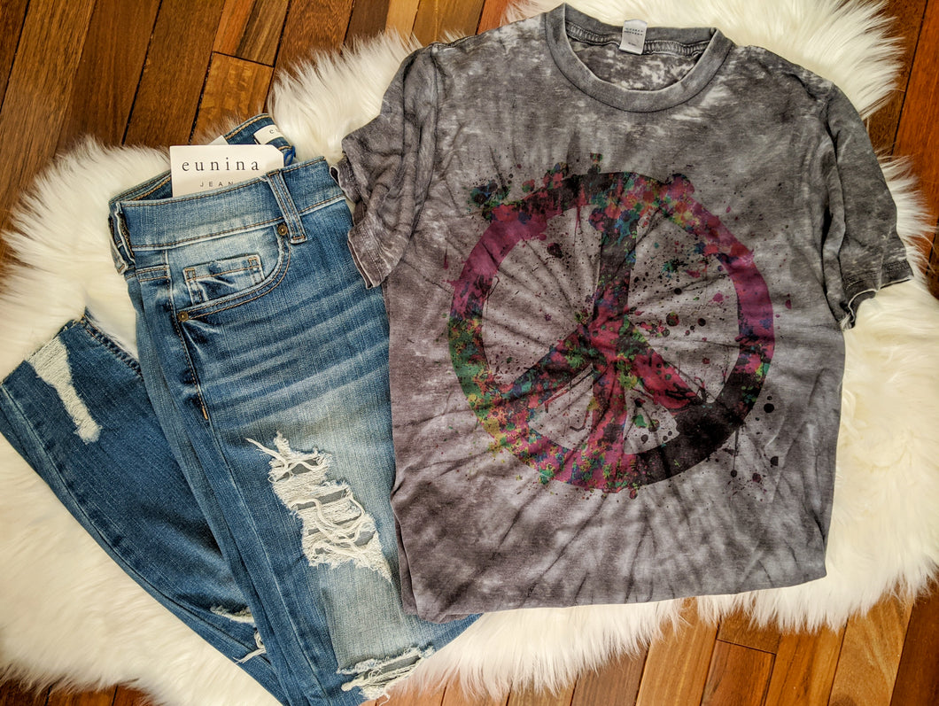 Graphic - Tie Dye - Peace Sign - IN STOCK