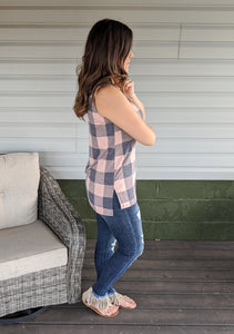 Stay True ~ Blush Plaid Top
