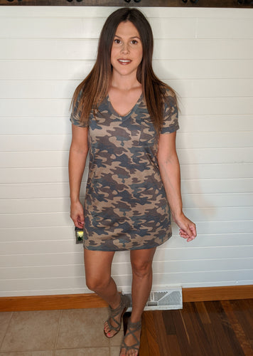 Fire ~ Camo Shift Dress
