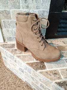 At It Again Taupe Booties