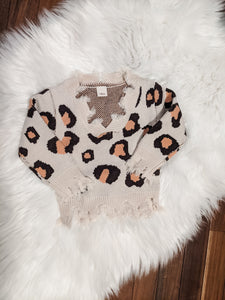 Lovely Leopard Sweater ~ Kids