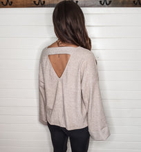 Keep It Light Solid Knit Sweater ~ Taupe
