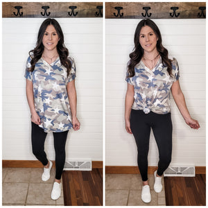 A New Way Camo Top