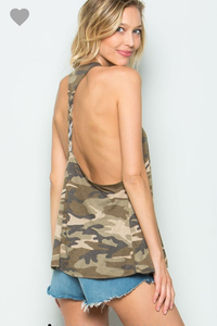All About Me Braided Camo Tank