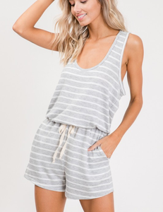 Road Trip Striped Romper