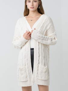 My Cozy Ivory Cardigan
