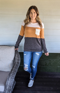 Stay Cozy Long Sleeve Top - Curvy
