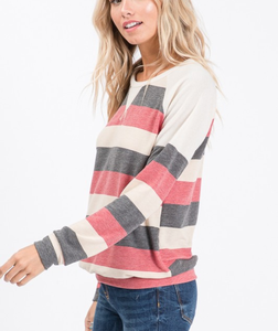 Never Looking Back Striped Top