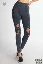 No Stopping Her Now Distressed Leggings