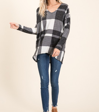 The Best Gift - Black/White Plaid Top