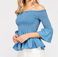So Sweet Peplum Top