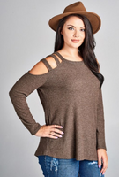 I'm All In Waffle Knit Top - Curvy