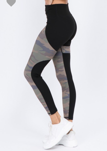 The Camo Color Block Leggings