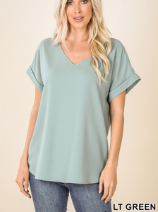 Simple & Sweet Vneck Top - Curvy