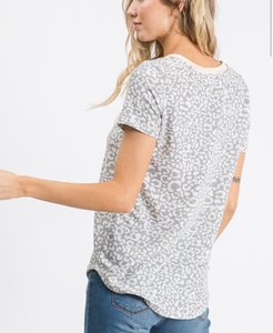 Cozy Nights Animal Print Top