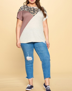See You Later Color Block Top - Curvy