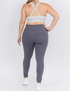 On Trend Charcoal Leggings - Curvy