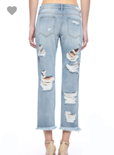 The Boyfriend Jean ~ Cello Super Distressed