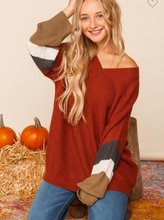 Cozy Enough Rust Sweater