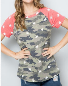Better Than Ever Camo Top ~ Curvy