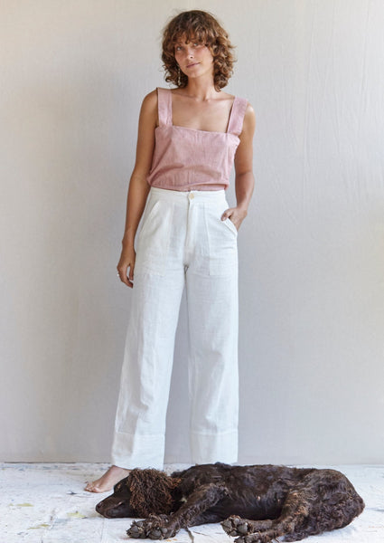 The cuff pants - Nettle.