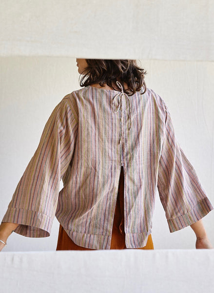 The Painters Blouse-various hand-woven khadi cloths.