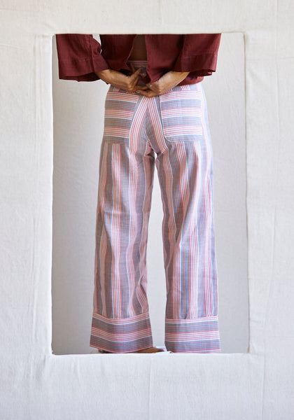 The cuff pants - woodford stripe khadi.