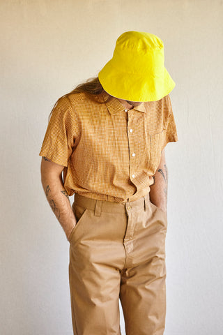 The Trousers for Legs - hand woven khaki fabrics.