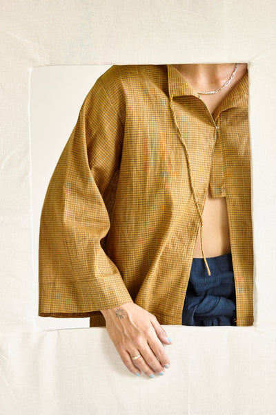 The Painters Blouse - various hand-woven khadi cloths.