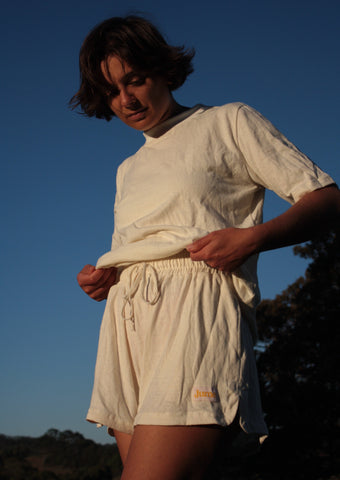 The Comfy Shorts- 100% hemp jersey.
