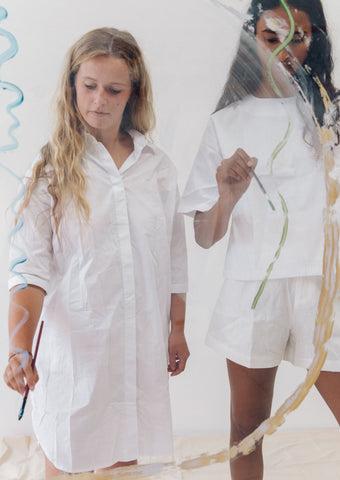 The Vacay Shirt Dress - organic cotton