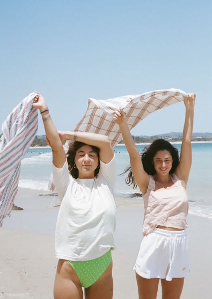 Hand woven beach towels