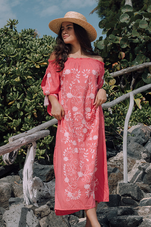 Marrakesh Off The Shoulder Maxi in Nectar