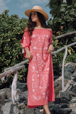 Santorini Maxi Dress in Dusty Rose