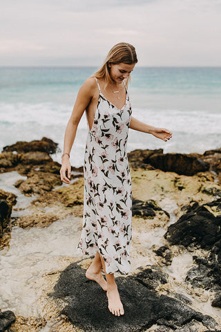 Flora Wrap Dress in Rosa