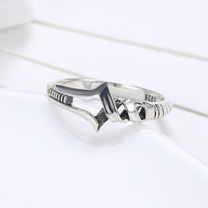 925 Sterling Silver Ring Fashion personality arrow ring woman