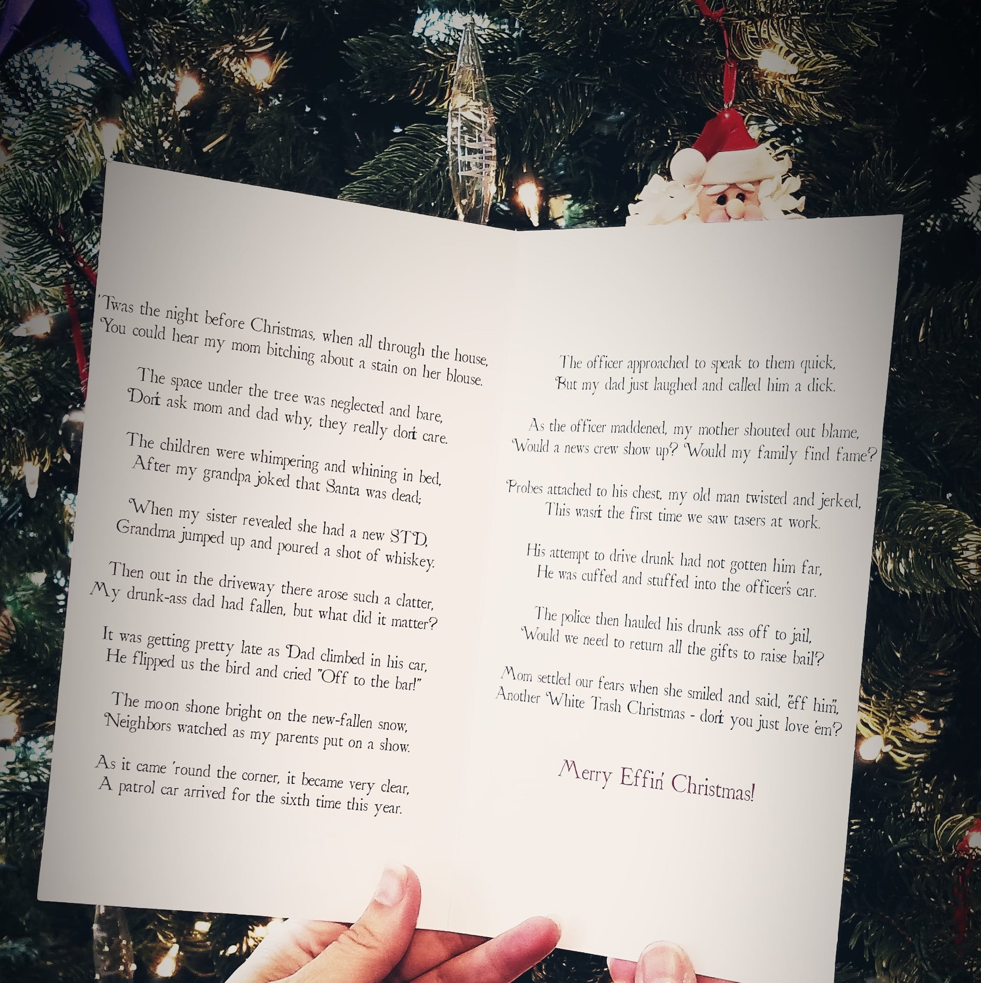 Twas the Night Before Christmas - 12 Pack Holiday Cards - Effin Cards