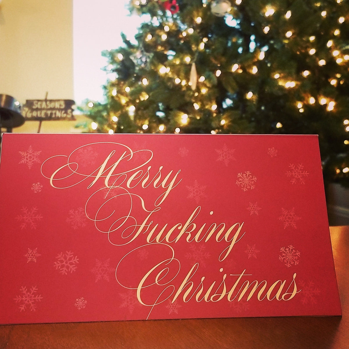 Merry Fucking Christmas - 12 Pack Holiday Cards