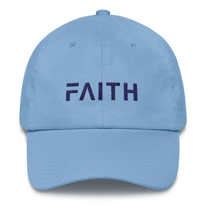 Load image into Gallery viewer, Adjustable Faith Christian Baseball Hat - One-size / Carolina Blue - Hats
