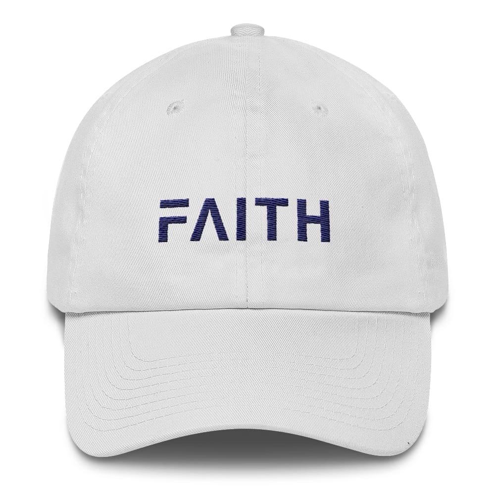 Adjustable Faith Christian Baseball Hat - One-size / White - Hats
