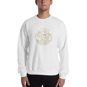 Be Courageous Be Strong Stand Firm in the Faith Christian Crewneck Sweatshirt - S / White - Sweatshirts